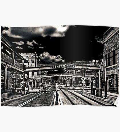 Ghost Town - Ybor City  Duotone Poster