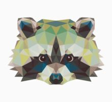 Geometric Raccoon Kids Clothes
