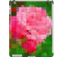 Pink Roses in Anzures 2 Abstract Circles 2 iPad Case/Skin