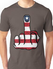Middle Finger USA Flag Unisex T-Shirt