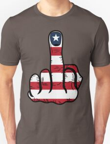 Middle Finger USA Flag T-Shirt