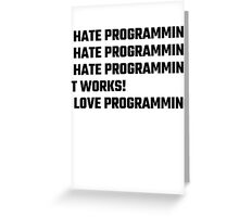 I Love Programming Greeting Card