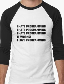 I Love Programming Men's Baseball ¾ T-Shirt
