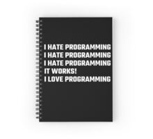 I Love Programming Spiral Notebook