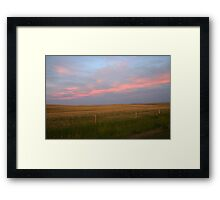 Pink Prairies Framed Print