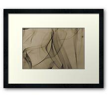 Smoldering Smoke Muted Pastel 002 Framed Print