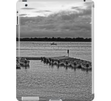 Black and White Moored Boats iPad Case/Skin