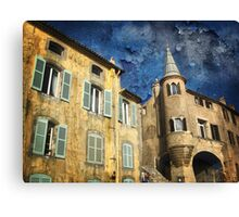 Ancient District of Saint-Paul in Hyères (French Riviera) Canvas Print