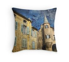 Ancient District of Saint-Paul in Hyères (French Riviera) Throw Pillow