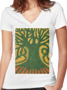Primitive Tree Women's Fitted V-Neck T-Shirt