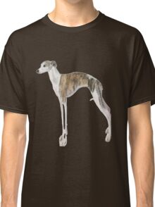Tall Dog Whippet- White Background Classic T-Shirt