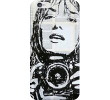 The girl with the camera . iPhone Case/Skin