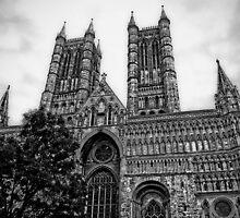 Lincoln Cathedral Facade by Yhun Suarez