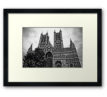 Lincoln Cathedral Facade Framed Print