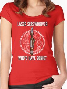 Laser Screwdriver. Who'd have Sonic? Women's Fitted Scoop T-Shirt