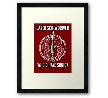 Laser Screwdriver. Who'd have Sonic? Framed Print