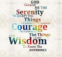 Colorful Serenity Prayer by Sharon Cummings by Sharon Cummings