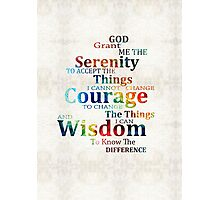 Colorful Serenity Prayer by Sharon Cummings Photographic Print