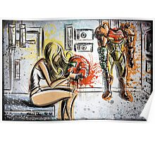 Metroid, Art, shamus, nintendo 64, nintendo, gamecube, video game, girl, robot, machine, underwear, christmas, present, joe badon Poster