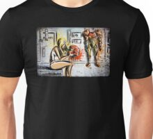 Metroid, Art, shamus, nintendo 64, nintendo, gamecube, video game, girl, robot, machine, underwear, christmas, present, joe badon Unisex T-Shirt