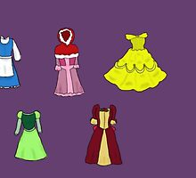 Belle's Dresses by treblemakeranna