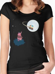 Take Her to the Moon for Me Women's Fitted Scoop T-Shirt