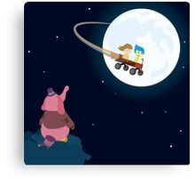 Take Her to the Moon for Me Canvas Print