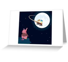 Take Her to the Moon for Me Greeting Card