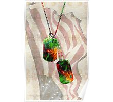 Military Art Dog Tags - Honor 2 - By Sharon Cummings  Poster