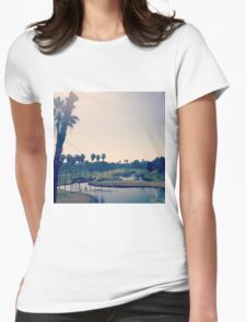 Palm Trees in Southern California Womens Fitted T-Shirt