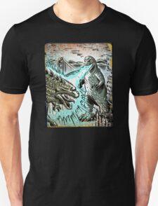 Godzilla, Japan, Japanese, USA, 60's, 50's, 40's, 70's, 80's, 90's, Art print, Illustration, 2014, Geekery, Kaiju, Monster,Poster, Christmas Gift, joe badon T-Shirt