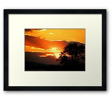 Sky's on Fire Framed Print