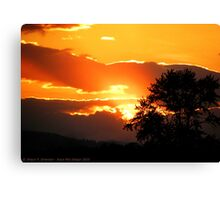 Sky's on Fire Canvas Print