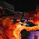 Batman Boat Flying through Flames by Darlene Lankford Honeycutt