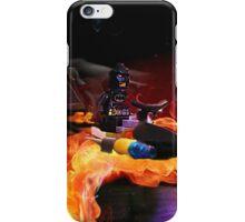Batman Boat Flying through Flames iPhone Case/Skin