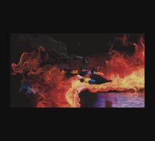 Batman Boat Flying through Flames Kids Clothes