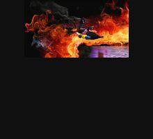 Batman Boat Flying through Flames T-Shirt