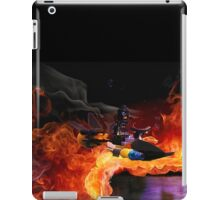 Batman Boat Flying through Flames iPad Case/Skin