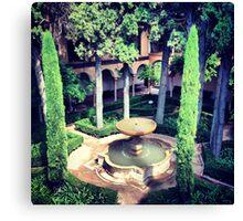 Gardens in Alhambra Canvas Print