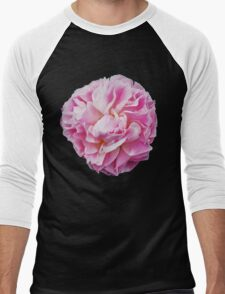 Pink Peonies Men's Baseball ¾ T-Shirt
