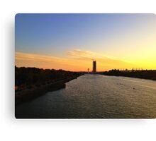 Sunset in Sevilla Canvas Print