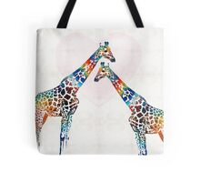 Colorful Giraffe Art - I've Got Your Back - By Sharon Cummings Tote Bag