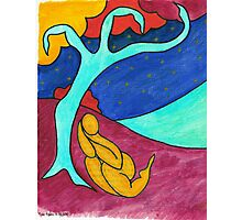 Tree figure abstract landscape Photographic Print