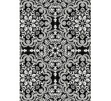 Black & White Folk Art Pattern Photographic Print