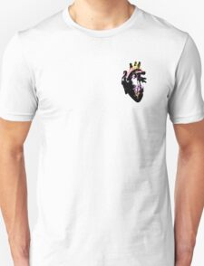 Pangender Pride Heart (with black detail) T-Shirt