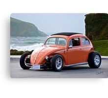 Volkswagen Bug 'Slightly Modified' Canvas Print