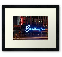 """Broadway Bar"" Framed Print"