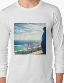 Looking Out on the Mediterranean Long Sleeve T-Shirt