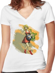 Pretty Package Women's Fitted V-Neck T-Shirt