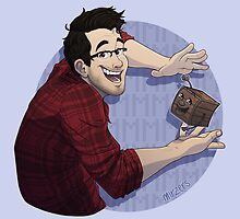 Markiplier & Tiny Box Tim by mirzers